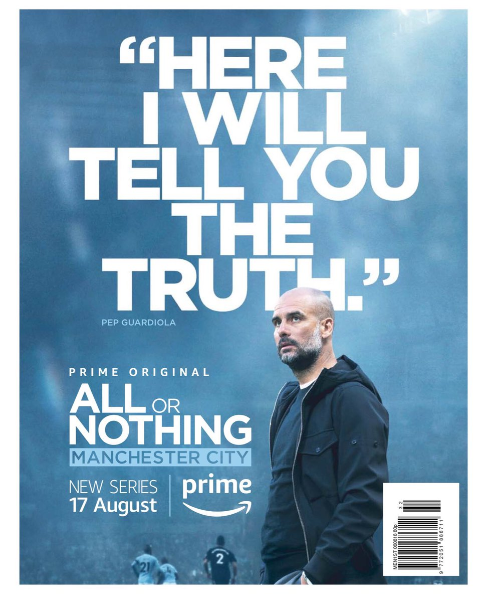 """BREAKING... Manchester United to also release Amazon Prime All or Nothing documentary  Guardiola """"I will give you the truth"""" Mourinho """"I will give you only bullshit""""  #AllOrNothing   #AFC #CFC #CPFC #EFC #HTAFC #LFC #MCFC #MUFC #NUFC #THFC #WBA #WHUFC #pl  #HalaMadrid #FCBLive <br>http://pic.twitter.com/qxz0sXpzfa"""