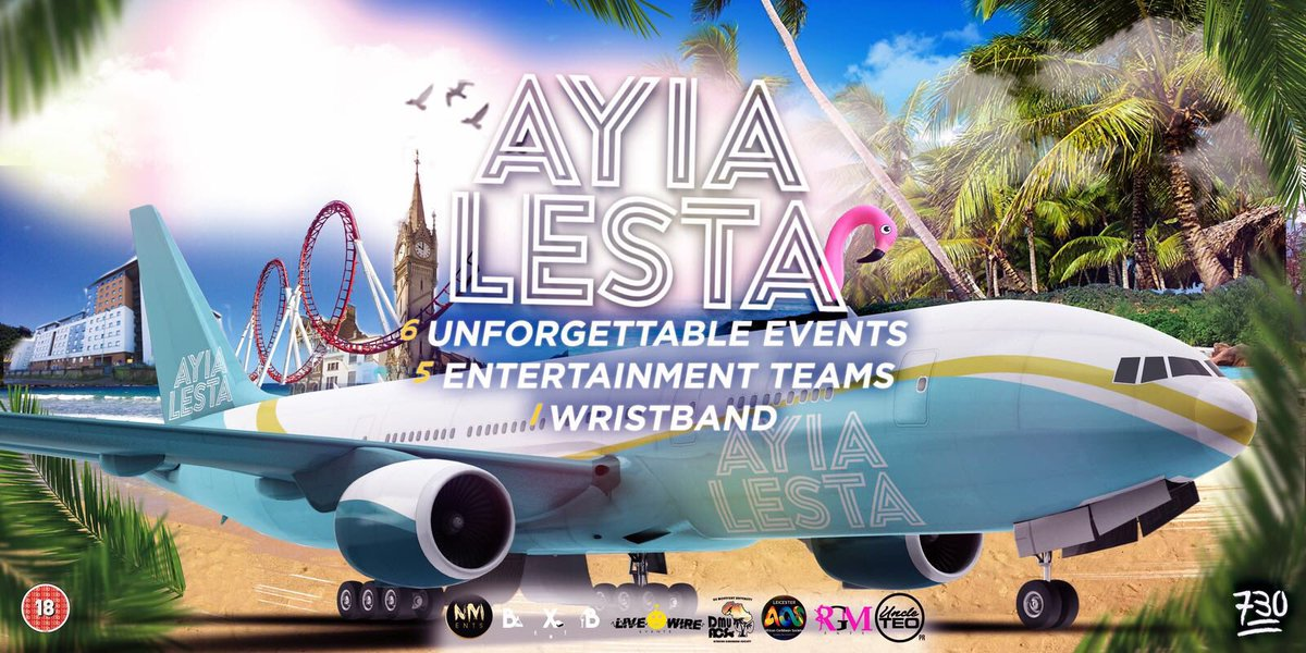 We're back baby!   @UncleTeoPR will be hosting a night @ #AyiaLesta   The official freshers package in Leicester   23rd September - 4th October  6000 Students 6 Super Brands Arena's &amp; Superclubs &amp; Day events 1 Wristband  Tickets out this Sunday 8PM <br>http://pic.twitter.com/yiLfKv9n85
