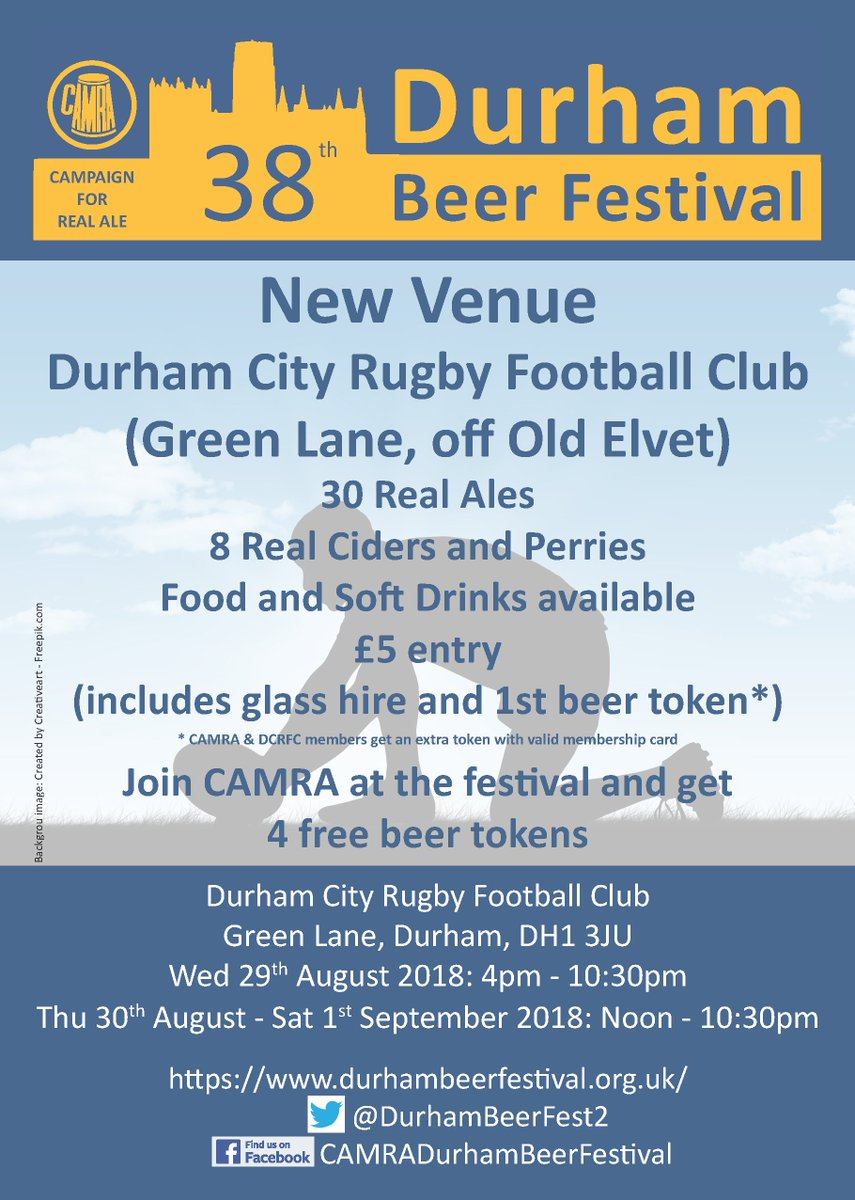 Durham Beer Festival On Twitter The 38th Durham Beer Festival Is