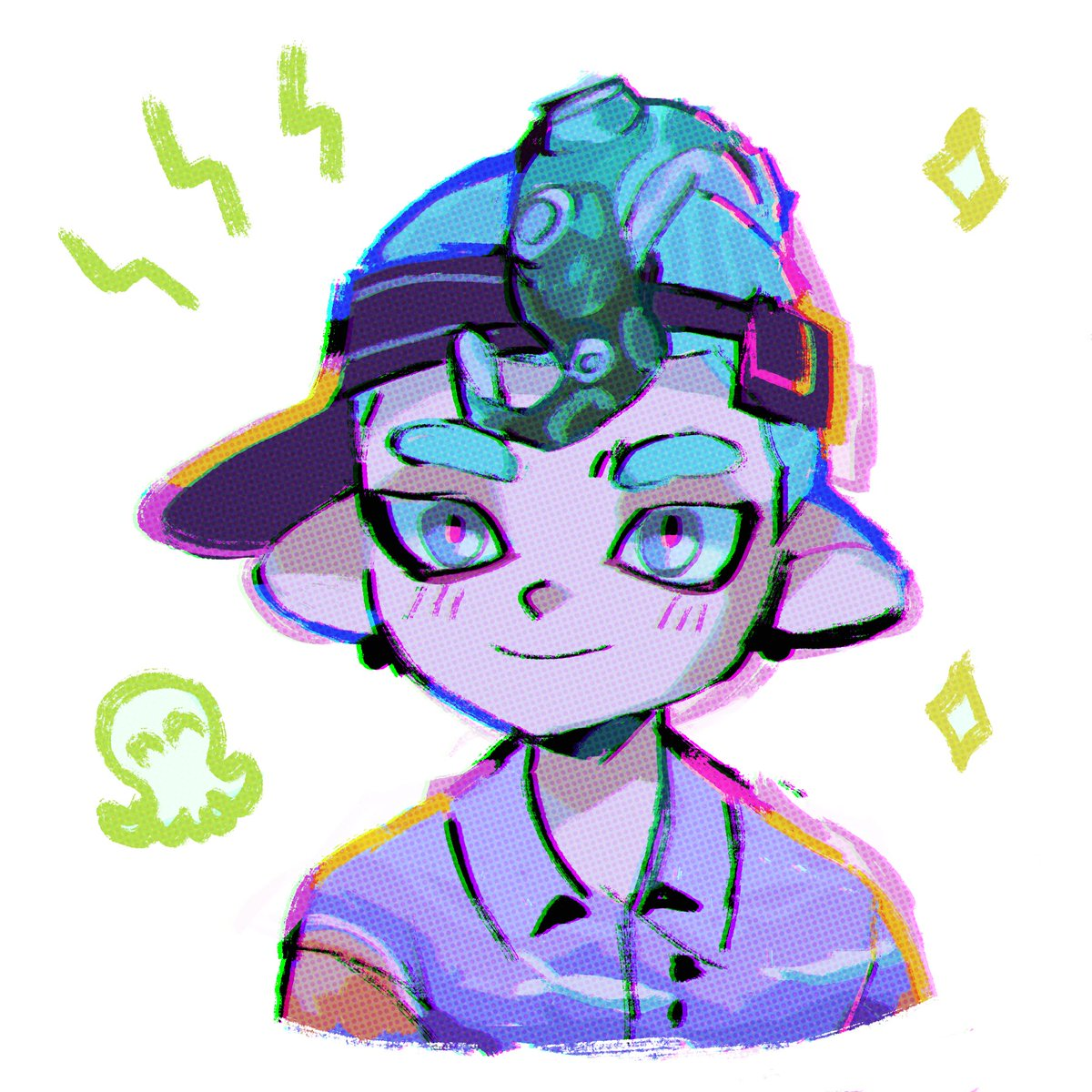 drawing of my octo boy in splat2!! i love the octos... wee <br>http://pic.twitter.com/xEIcYP3Q6U
