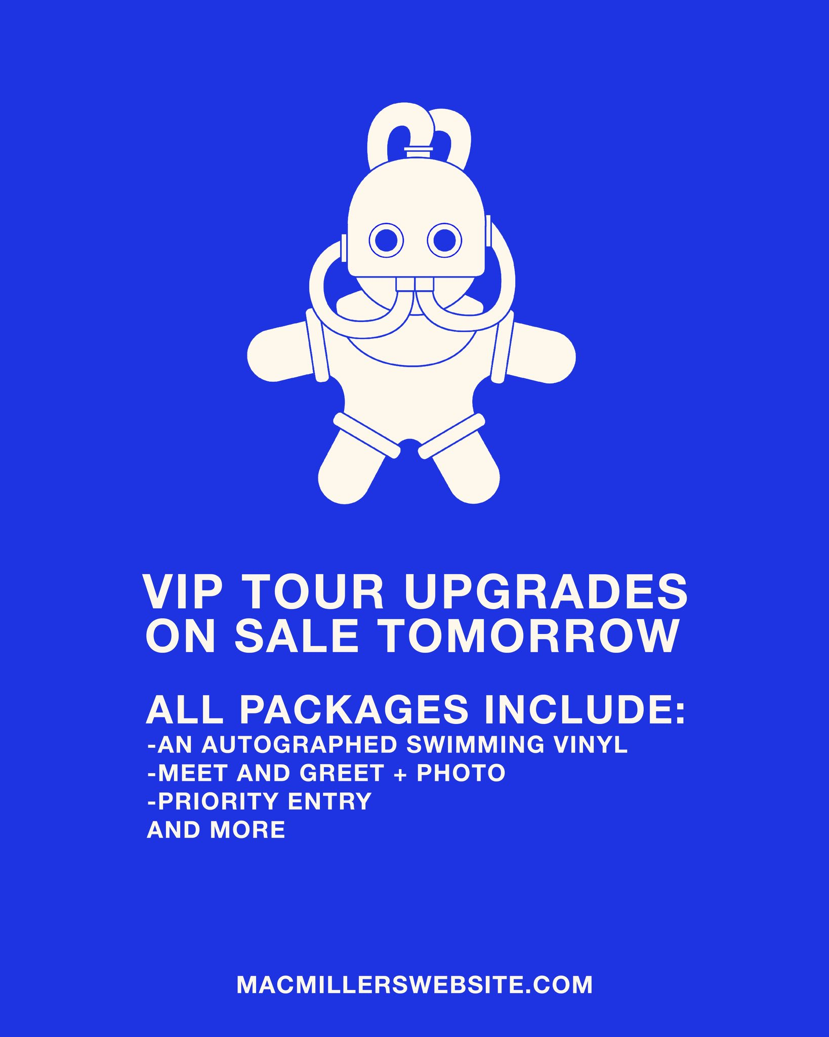 Hey guys,  VIP Tour Packages go on sale tomorrow at 10AM Local.  https://t.co/8gFVJLB3L0 https://t.co/LhsGSwMskI