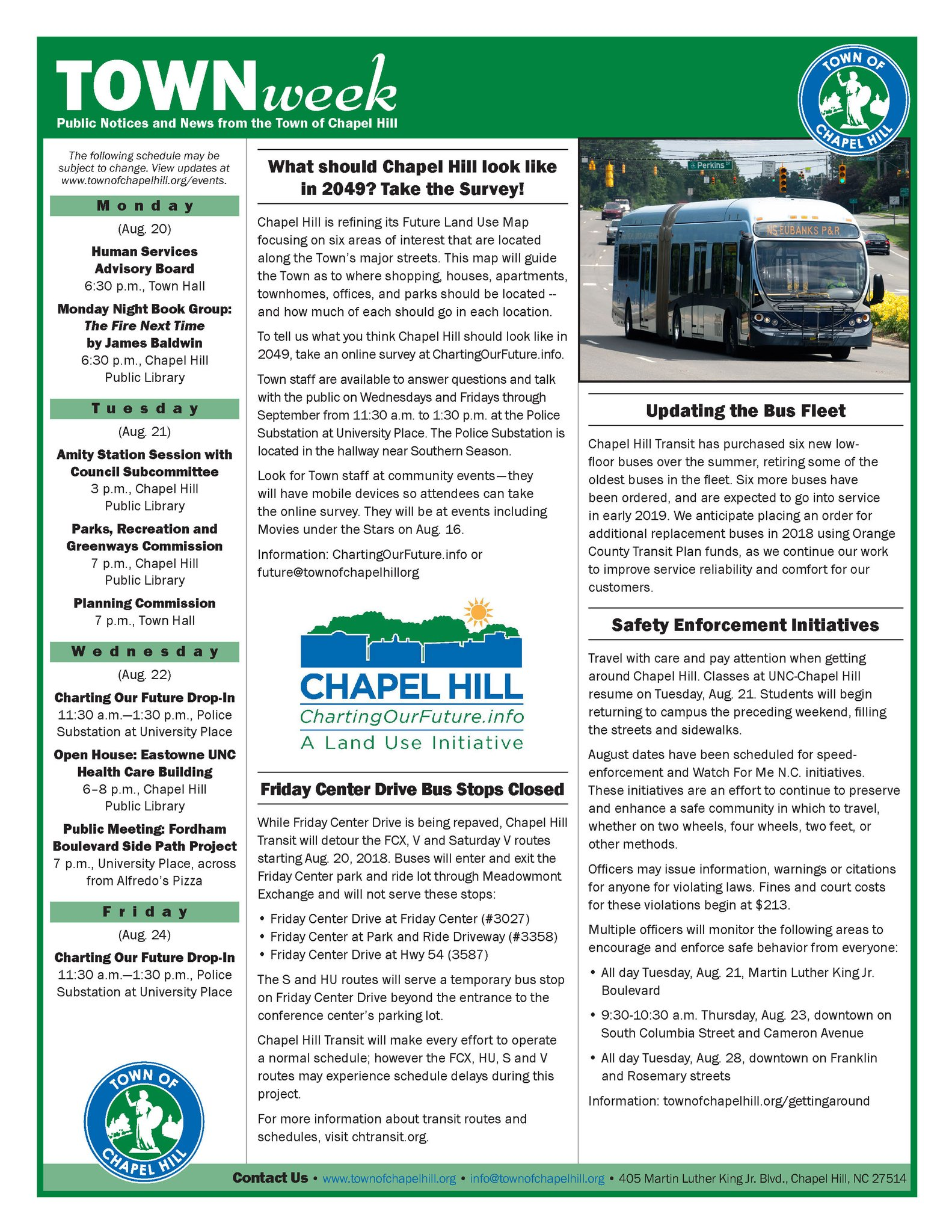 Chapel Hill Bus Route Map on