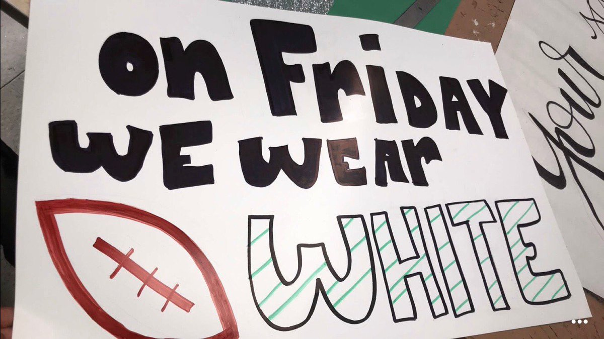 PIRATES Tomorrow's rivalry game will be a white out, make sure to wear white to school and the game against Sanger <br>http://pic.twitter.com/QjRrEbZagD