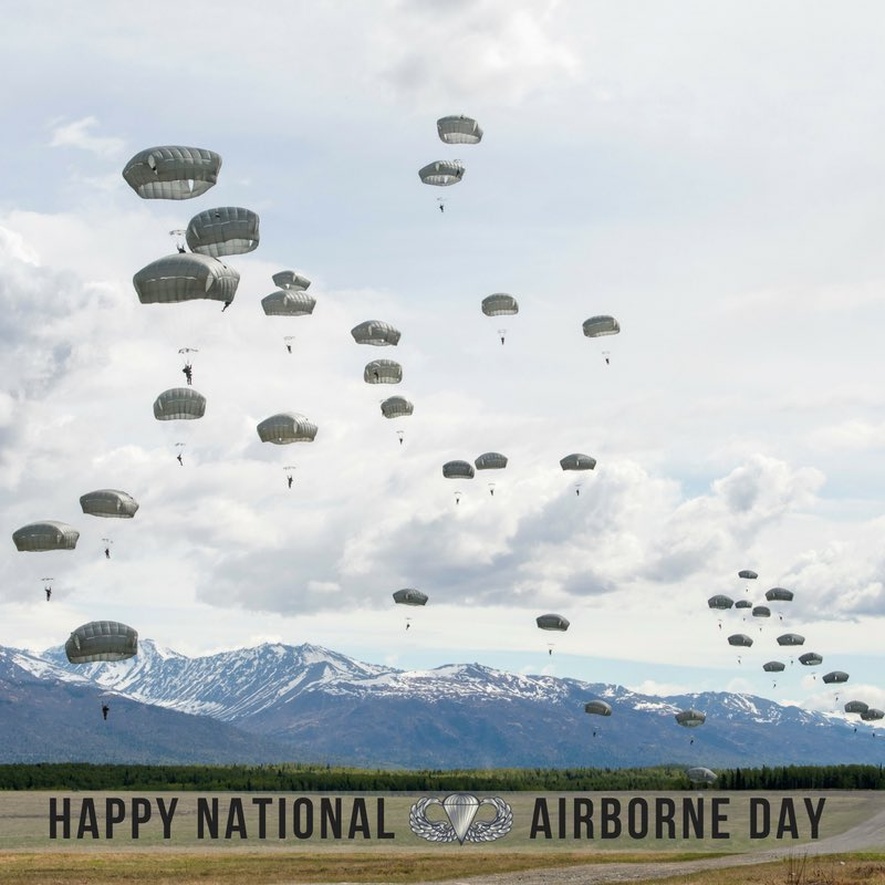 I was proud my resolution passed the Senate today designating August 16 as #NationalAirborneDay to honor our airborne armed service members. Thanks to all of our paratroopers who work every day to keep Alaskans and Americans safe.