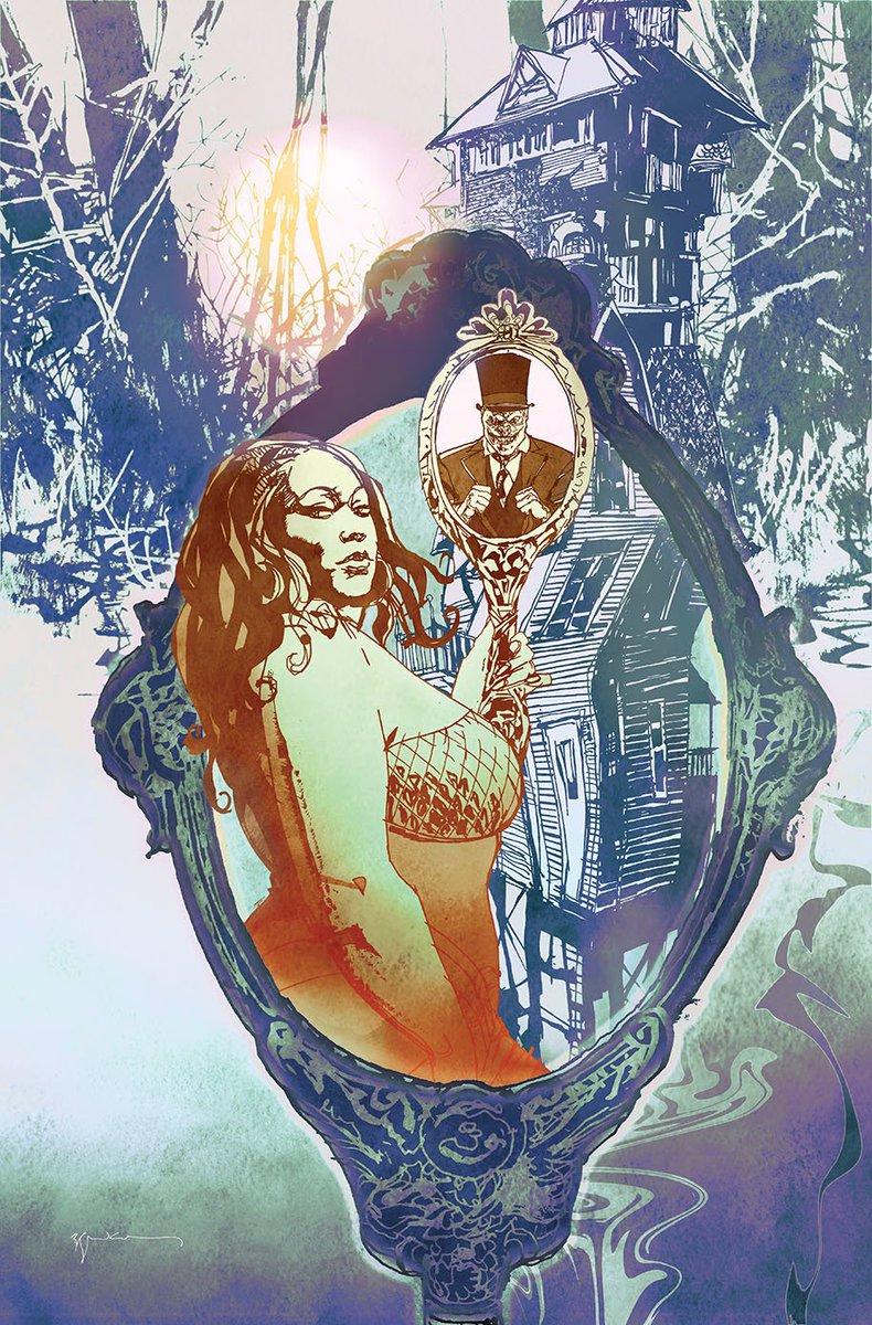 First look at the @sinKEVitch variant to House of Whispers #1 from @vertigo_comics @DCComics @Nalo_Hopkinson @DomoStanton #Sandman #SandmanUniverse #NoirComics #Noir<br>http://pic.twitter.com/0ifpvLjDKU