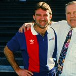Thinking of Ted Whitten, who passed away on this day 23 years ago. Never forgotten, Mr Football!   #RealStrength