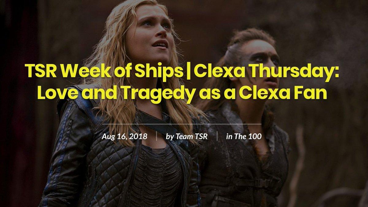 Article   Clexa Thursday: &quot;Love and Tragedy as a Clexa fan&quot;  Thank you, Gandara Gallishaw! #ClexaThursday #TSRShipWeek   http:// theseriesregulars.com/tsr-week-of-sh ips-clexa-thursday-love-and-tragedy-as-a-clexa-fan/ &nbsp; … <br>http://pic.twitter.com/TNaR6KLRwQ