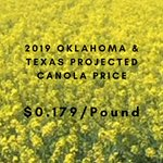 Image for the Tweet beginning: #Canola price has been set