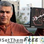 We welcome the decision by the UN Working Group on Arbitrary Detention declaring the imprisonment of Nabeel Rajab unlawful under int'l law. We join them in calling on #Bahrain for his immediate and unconditional release. More: https://t.co/iFC1zHDnH6 #FreeNabeel #SetThemFree