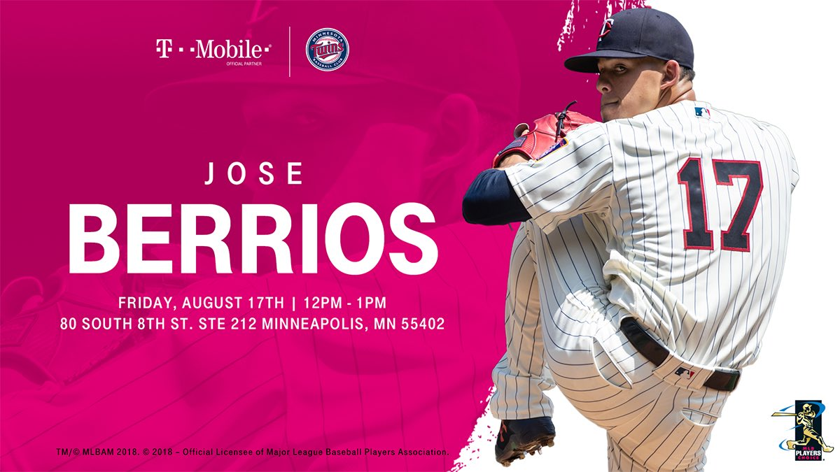 We can't wait to see you tomorrow, Jose Berrios fans!  @Twins @JOLaMaKina<br>http://pic.twitter.com/fetWdUAunz