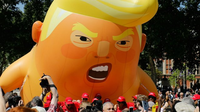 Two 'Trump baby' blimps arrive for protests in NJ town where Trump golf course is https://t.co/x9qycK2a87 https://t.co/2BYAYQ19zi