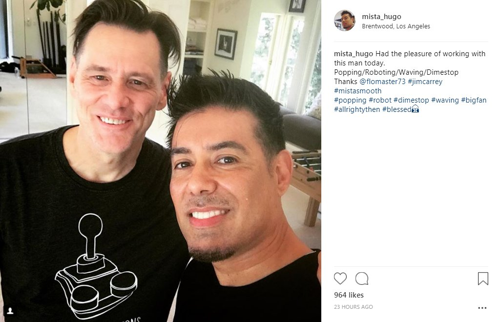 Tails Channel Sonic The Hedgehog News Updates On Twitter New Mista Hugo On Instagram Uploaded A Image With Actor Jim Carrey Showcasing His New Haircut For The Upcoming Eggman Role In