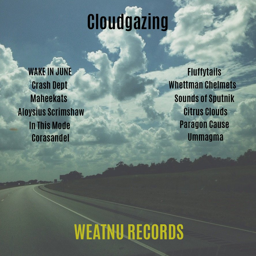 Cloudgazing: 12 awesome bands, w/t, shoegaze, post rock, indie rock, noise rock, dream pop! Including these artists: Coming Aug 31! @crashdept @ParagonCause @wc_helmets @DeadScrimshaw @Corasandelband @WasItJoy @Citrus_Clouds @ThisMode  @SOSputnik @Ummagma @chorosuke @maheekat<br>http://pic.twitter.com/DeEx1LLBam