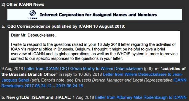 News Review 2) Odd Correspondence from @icann_president &amp; to @ICANN  https://www. domainmondo.com/2018/08/news-r eview-gdpr-icann-whois-data-epdp.html &nbsp; …  #domains #DomainNames #newgTLD #ISLAM #HALAL #NetGov #ICANN<br>http://pic.twitter.com/yYIzCsn6tM
