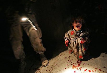 #Terrorism by the USA. Samar Hassan, 5, moments after her parents were killed by US soldiers in Tal Afar, Iraq in 2005. Photo by Chris Hondros. This girl is 18 now-let&#39;s NEVER stop fighting for #Justice for her &amp; for ALL the BILLIONS of victims of #USimperialism! #AntiImperialism<br>http://pic.twitter.com/ig7S1DjkgA