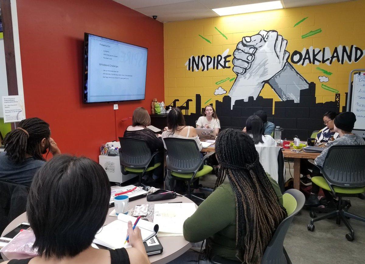 YIIIS! @carolanncan droppin&#39; major knowledge - sharing real tips, meaningful advice, and pro insights on landing a Product Design job @facebook &amp; @Google! #OaklandDigital #BRIDGEGOOD #DesignForSocialGood | Join us,  http://www. bridgegood.com  &nbsp;  <br>http://pic.twitter.com/ccHkkAs2pY