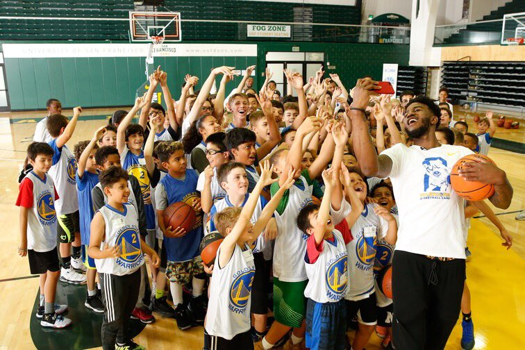 Looking back on some of the best moments & shenanigans of @1jordanbell's overnight camp earlier this summer 😊 #TBT on.nba.com/2Kokank
