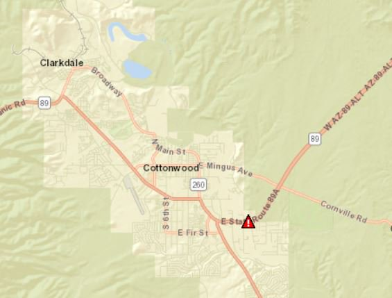 Map Of 89a Arizona.Arizona Dot On Twitter Closed Sr 89a Is Closed In Both Directions