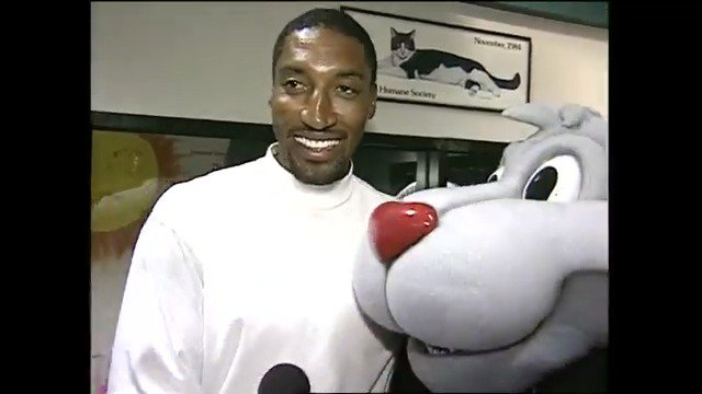 #TBT When @ScottiePippen brought @BlazeRipCity home from the @OregonHumane Society. @Hulu