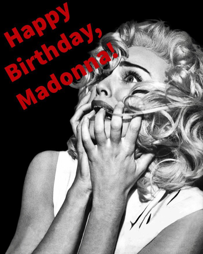 Happy Birthday Madonna! All these years! All this love! And then there\s you! Blessings