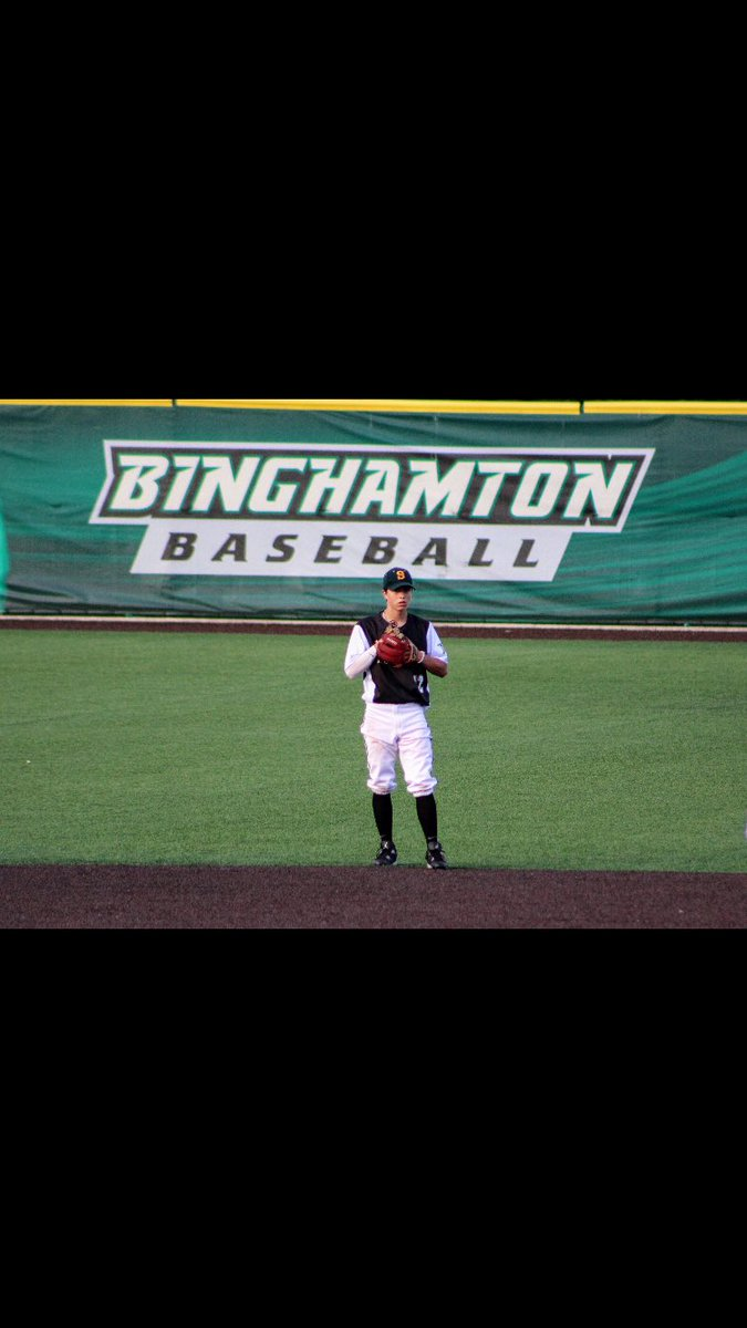 I am very proud to announce that I have committed to play Division 1 baseball and further my academic career at Binghamton University. Thank you to everyone who has helped me get to where I am today. <br>http://pic.twitter.com/GU1y4Uu0JK