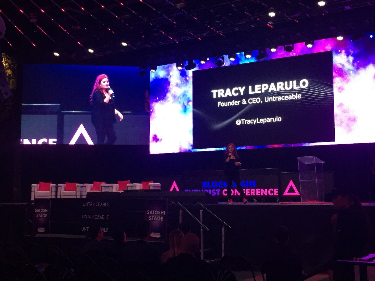 Closing remarks by Founder & CEO of @untraceableinc, the formidable @tracyleparulo, and thank you remarks by the amazing @Futurist_conf team #Futurist18