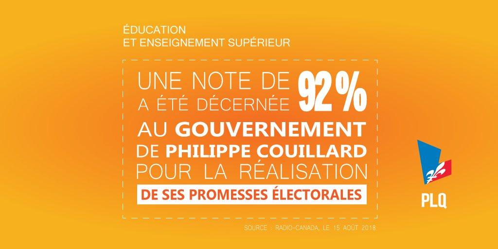Nous avons fait ce que nous avions dit que nous ferions.✅  @phcouillard s'est déjà engagé à offrir gratuitement tous les services éducatifs pour tous les enfants de 4 ans dans un second mandat! 👶👱  Le 1er octobre prochain, continuons ensemble. 👍  #PLQ #Qc2018 #PolQc