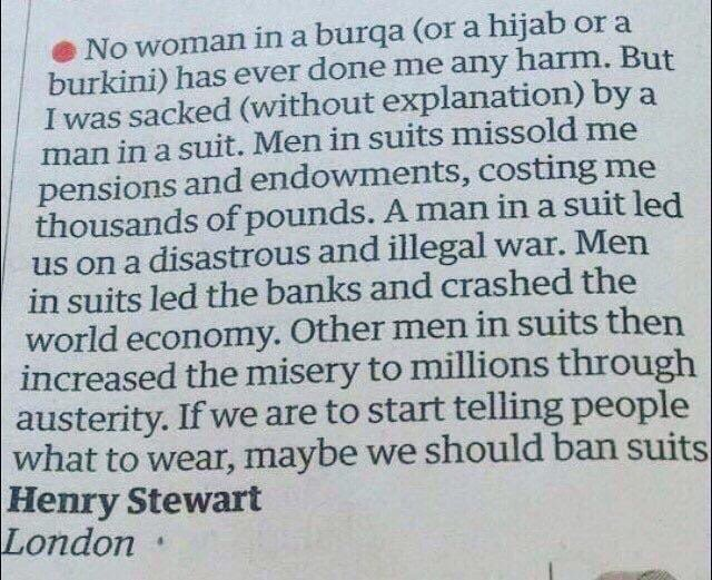 In the bigoted debate about #Muslim immigration in Australia this letter to the editor in the UK who are debating the same tells it like it is. <br>http://pic.twitter.com/d7qtc8NJWh