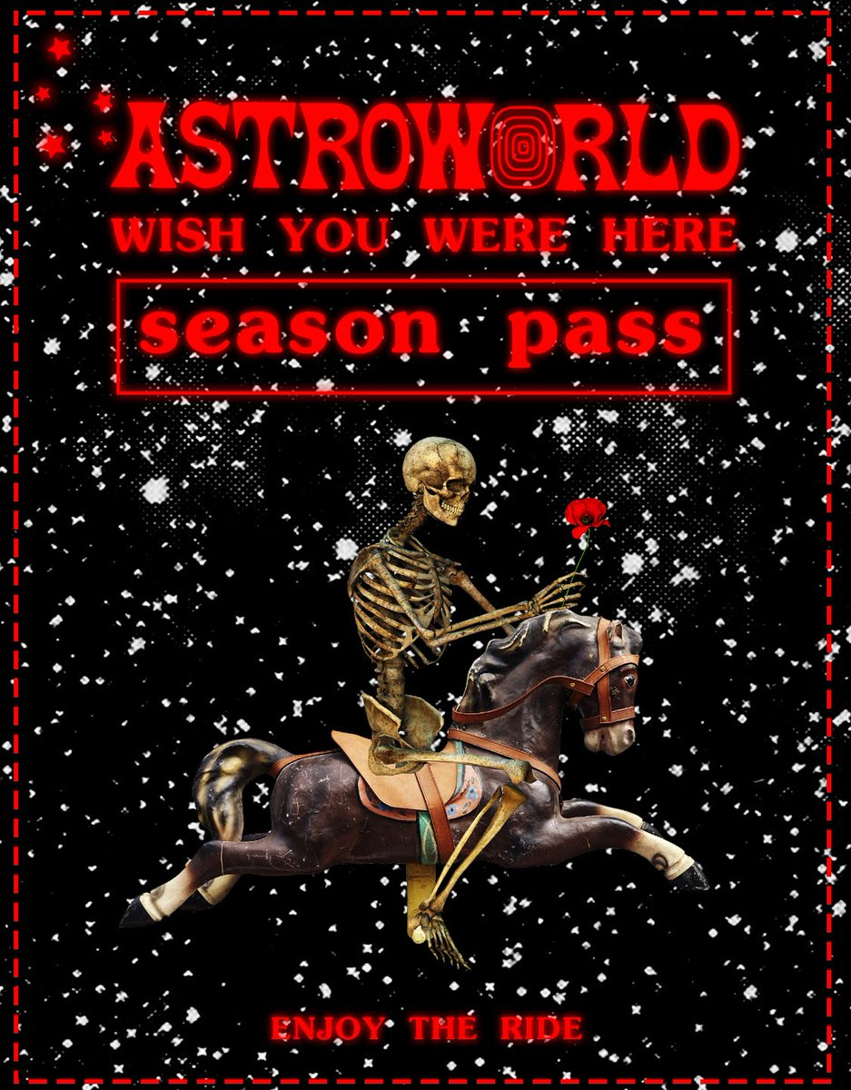 ALL THE RAGERS NEED A SEASON PASS !! GETS U IN THE VENUE EARLY FOR ASTROWORLD TOUR !! ONLY AVAIL FOR 4 MORE HOURS AT https://t.co/AJ4e7OI3tq