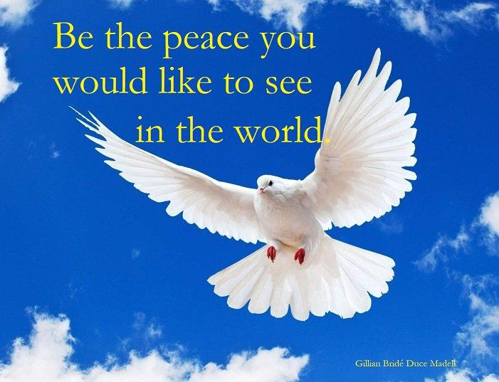 Be the peace you would like to see in the world.  #quote #quotes #quoteoftheday #quotesoftheday #quotestoliveby #quotesforlife #peace #PeaceAndLove #peaceful #peacebuilding<br>http://pic.twitter.com/LieGGSqsLR