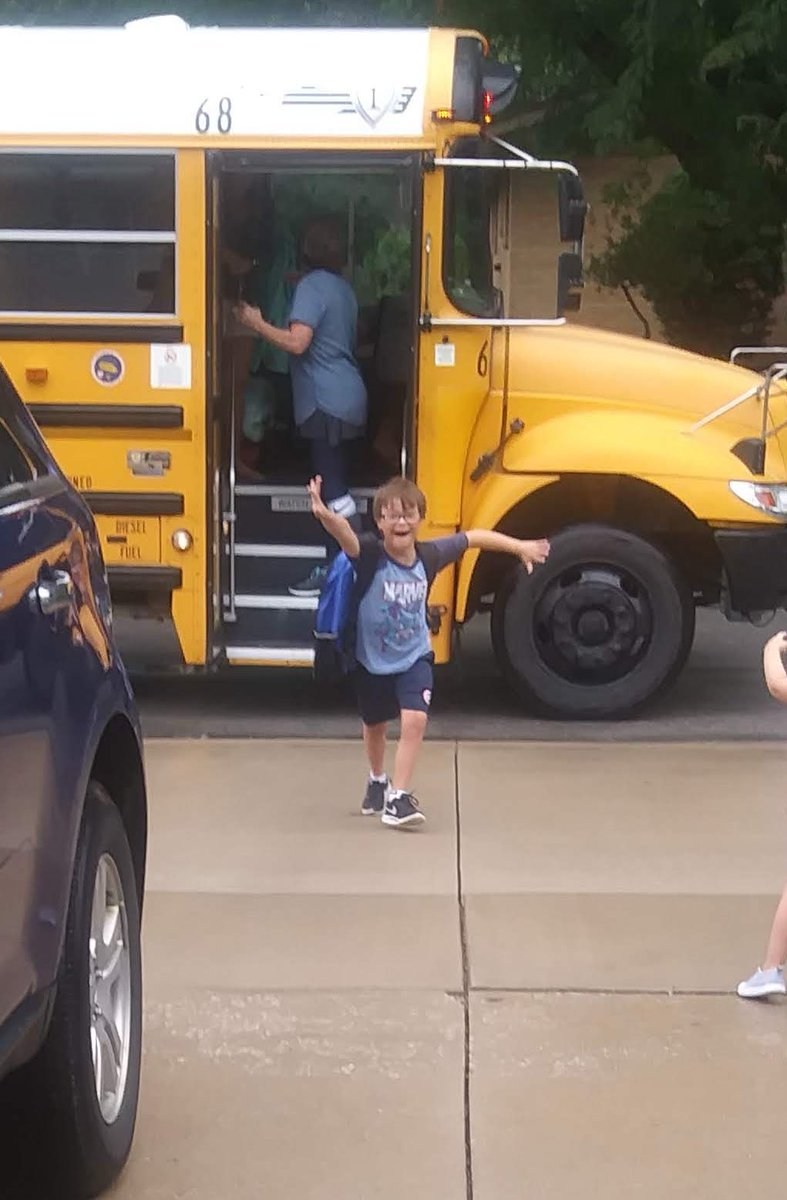 Please enjoy these pics of my little brother after his first day back at school