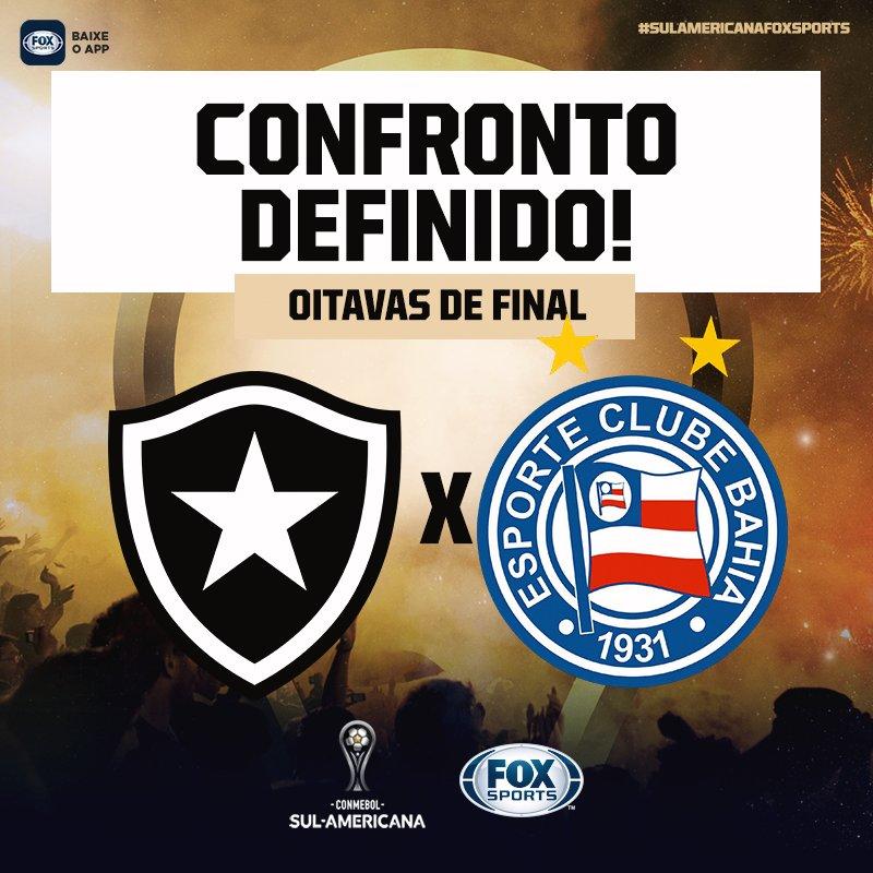 🔥🇱🇺 E JÁ TEMOS UM CONFRONTO DEFINIDO!  @botafogo x @ecbahia na #SulamericanaFOXSports