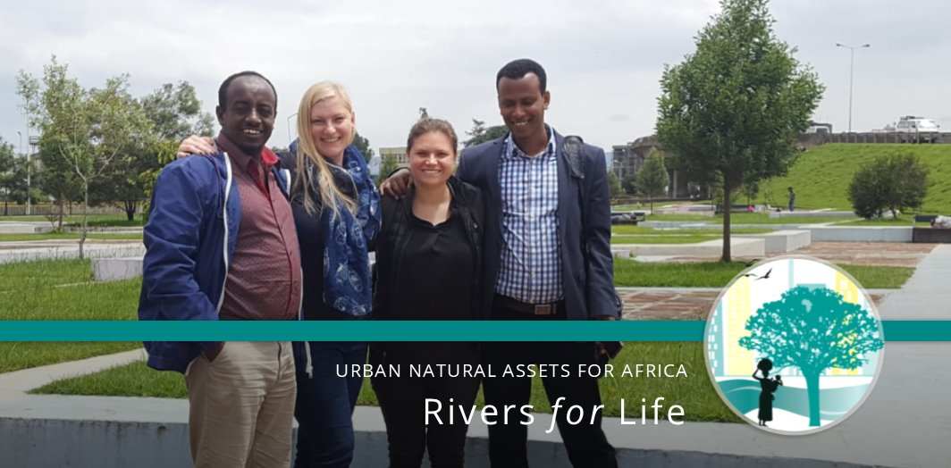Our #UNARivers team meeting with the #AddisAbaba #Ethiopia Beautification team to discuss project synergies in the city   Urban Natural Assets for #Africa #RiversforLife   More info on the project: https://t.co/WMaO6YM9bT