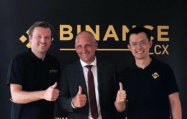 @cz_binance: Monty C. M. Metzger (CEO of LCX), Adrian Hasler (Prime Minister of Liechtenstein) and me. https://t.co/IbMKp7z0nN