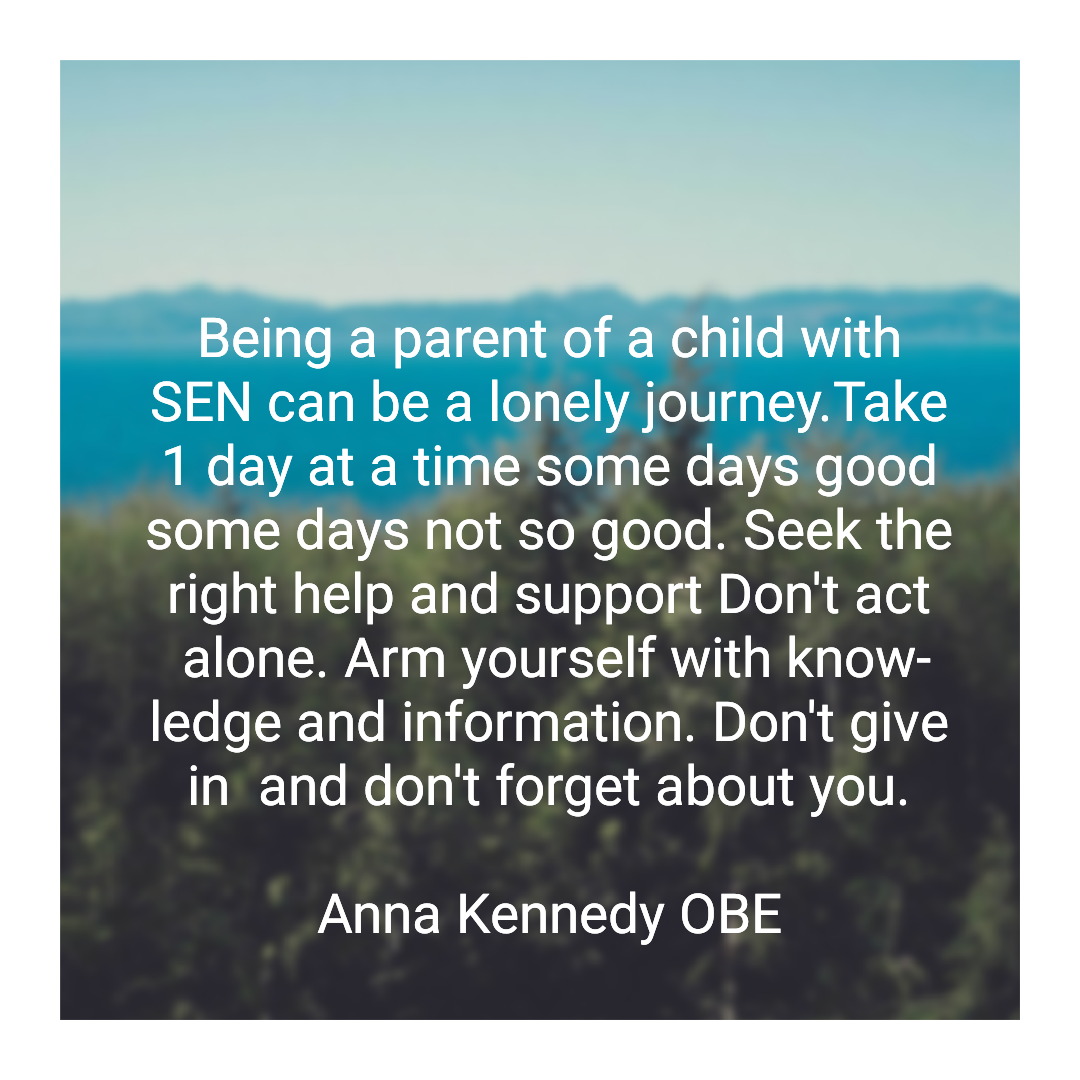 Being a parent of a child with #SEN can be a lonely journey. Take one day at a time some days good some days not so good. Seek the right help and support. Dont act alone. Arm yourself with knowledge and information. Dont give in and Dont forget about you. #FridayFeeIing
