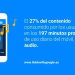 Image for the Tweet beginning: La comunicación mediante #audio cobra