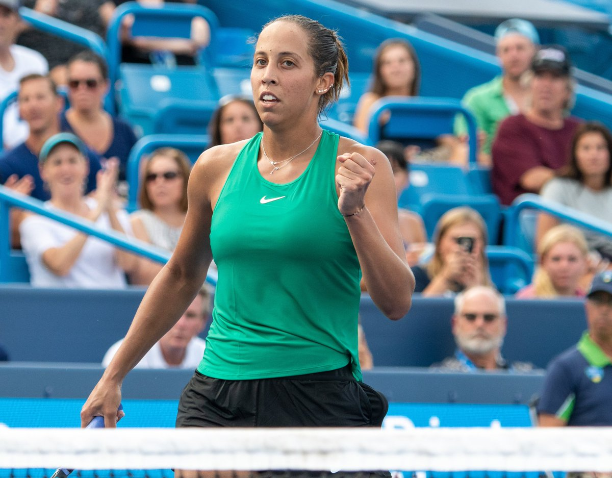Nice win for @Madison_Keys today over Kerber. The crowd loved seeing the fight from Maddy today.  Looking forward to Madison v Sabalenka. Gonna be some big hitting in that one.  #CincyTennis<br>http://pic.twitter.com/N5WECv0Rny &ndash; à Lindner Family Tennis Center