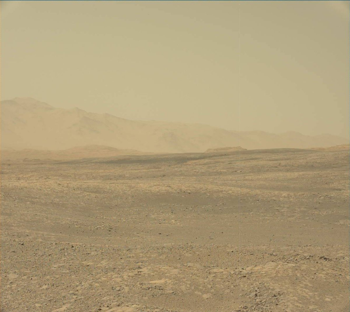 Skies on Mars are clearing up. Still nothing to look at, but at least I can see it.