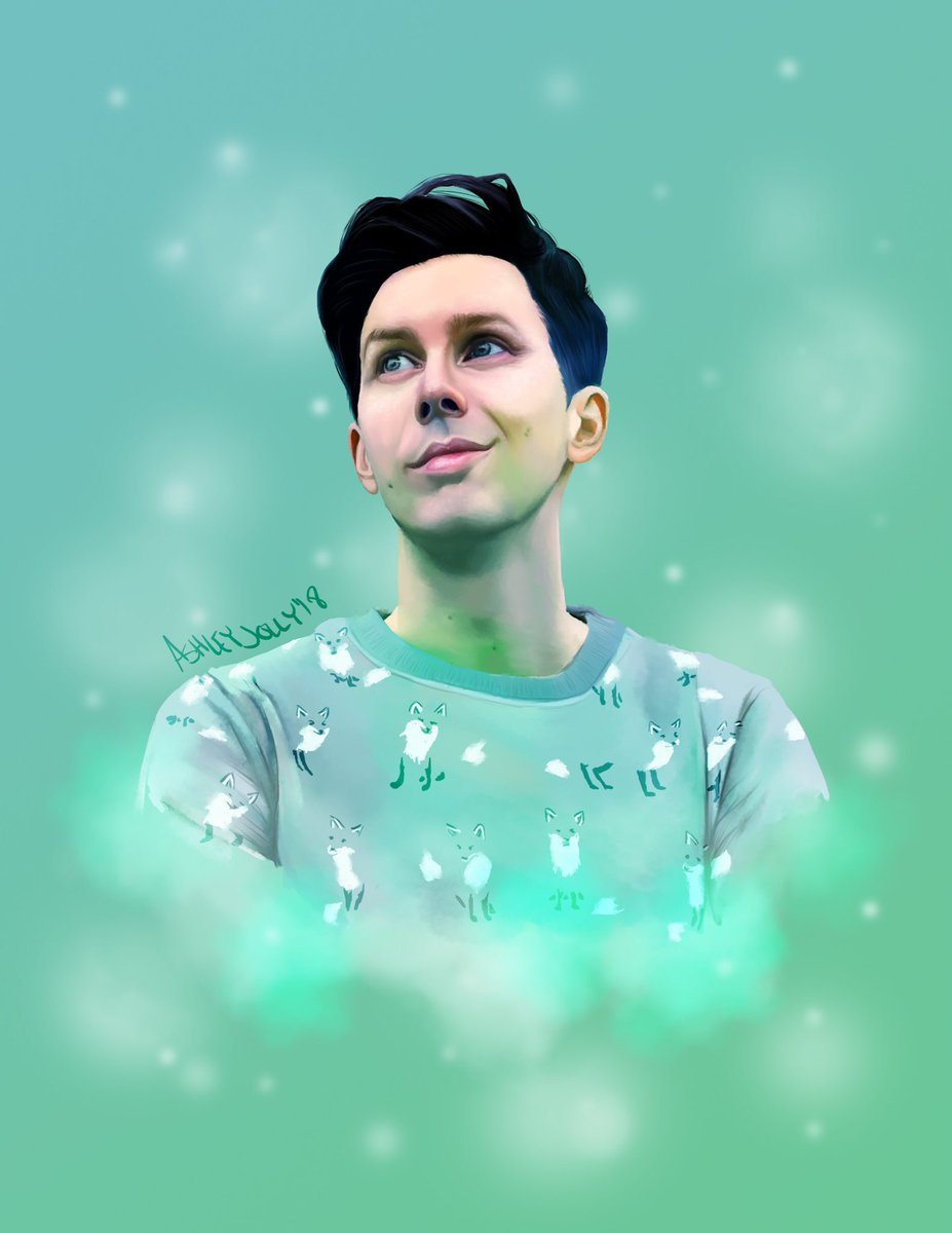 i couldn't pass up the opportunity to paint @AmazingPhil in his new merch 🍃