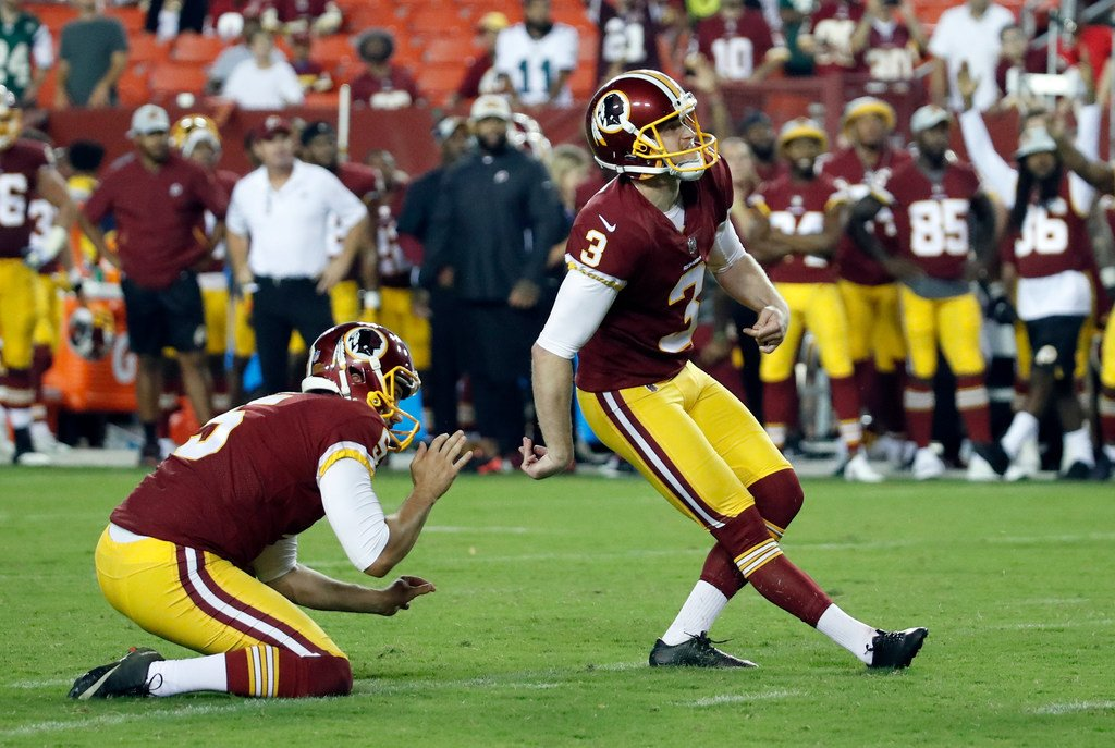 He is the only Redskins kicker with 5 FG in a regular-season game over the  last 10 seasons. He had 5 in Week 3 of 2016 at the Giants.pic.twitter.com   ... bad715b5a