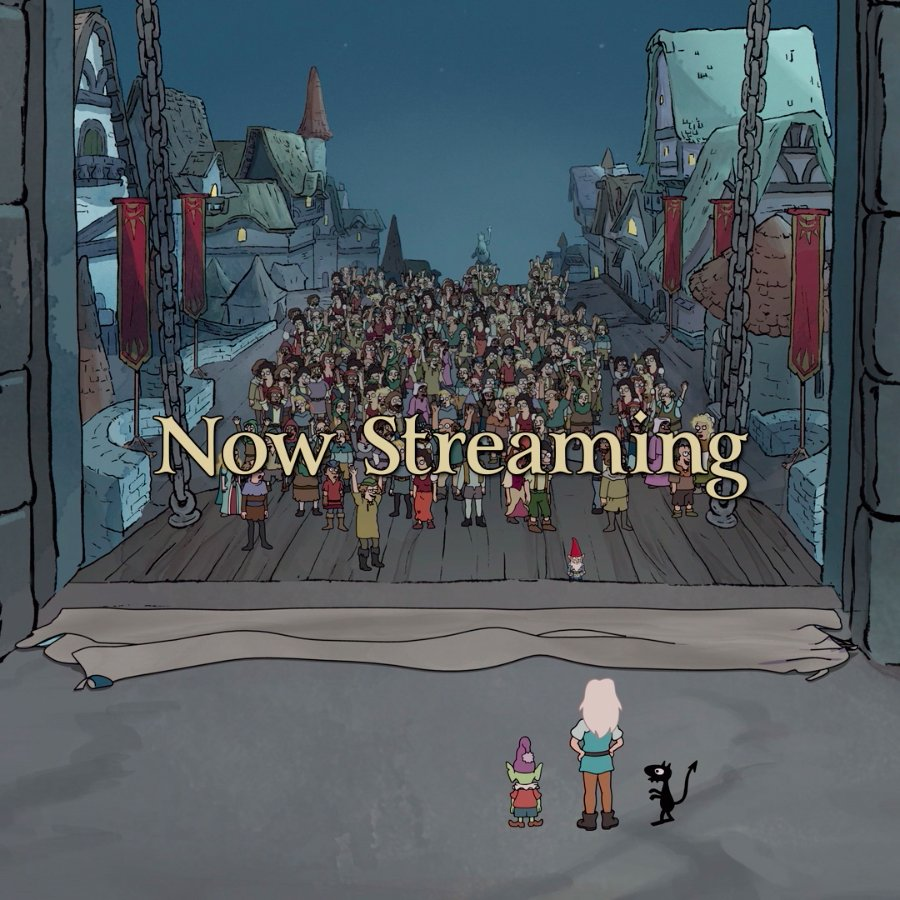 Where art our party people? Disenchantment is now streaming!