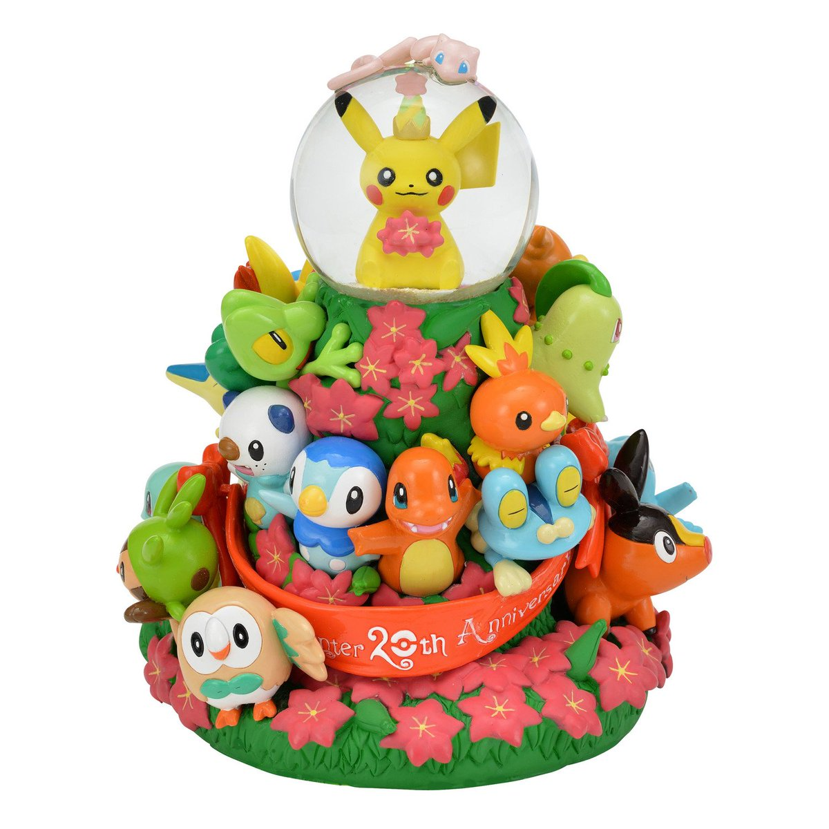Pokeshopper Update : Pokémon Center Official 20th anniversary snow globe statue to become available for preorder. Details @  https:// Pokeshopper.com/news.html  &nbsp;  <br>http://pic.twitter.com/sdOzQUb67C