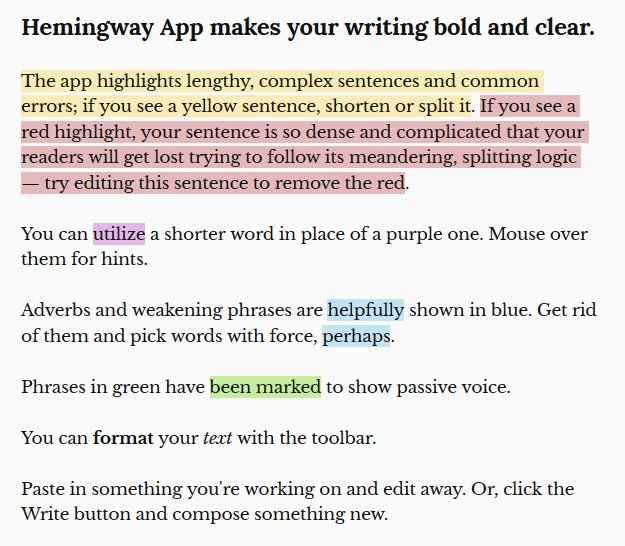 I would love to give due credit, but I forgot who pointed me to  http://www. hemingwayapp.com / &nbsp;   . This thing is immensely helpful in getting my introductions streamlined! #scientificwriting <br>http://pic.twitter.com/v2WWSC9rbt
