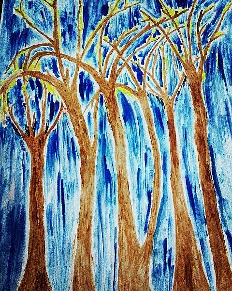 Blue Forest #oilpainting on paper 23x19inches , price $6000,order via DM Companies are offered to hire us for #oilpainting #artwork #original #painting #homedecor #digitalart #digitaldesign #visualart #interiordesign #art4loveandpeace #WishaArtGallery  #wishaartgalleryandstudio<br>http://pic.twitter.com/1oyNgAvLoB