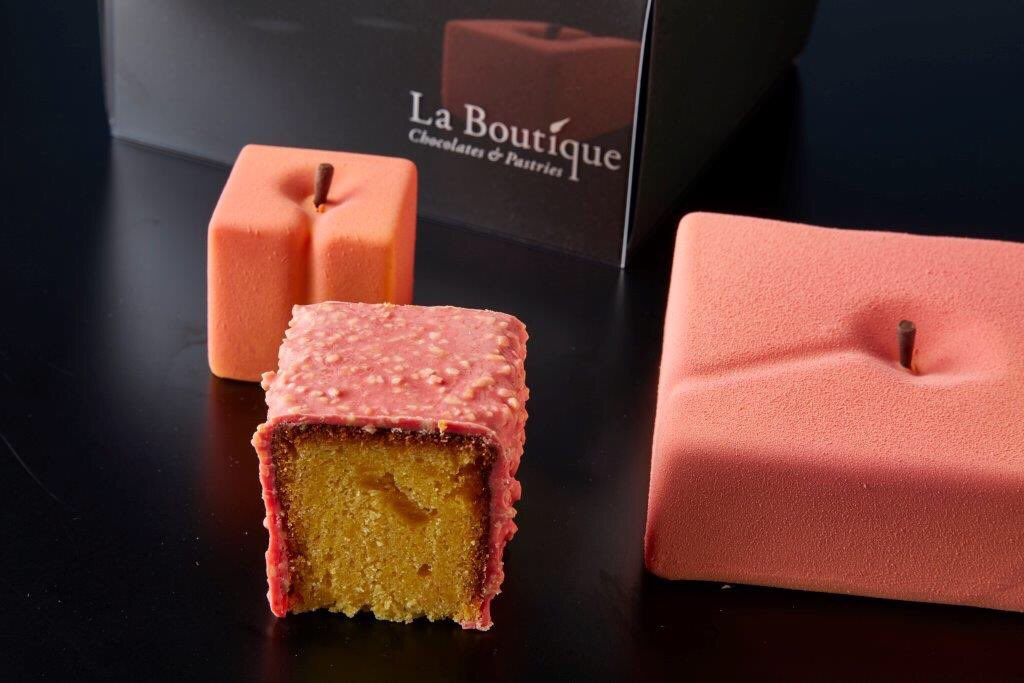 Introducing our new seasonal cube cake - #Peach! Come and try the taste of summer at La Boutique.<br>http://pic.twitter.com/tkylWBPX6P