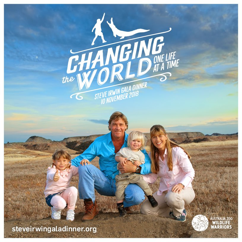 Join us Nov. 10 to honour the life of the original Wildlife Warrior at the #SteveIrwinGalaDinner Brisbane. With MCs @GeorgieG &amp; @DavidCampbell73, comedian @Rove &amp; music by @anuchristine, it's a celebration of Steve's passion for family, conservation &amp; fun!  http:// bit.ly/SIGD2018  &nbsp;  <br>http://pic.twitter.com/Rhnc81g9QE