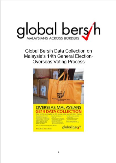 Now you can read the full report of the data collection on problems faced by Malaysian overseas voters in GE14 compiled by Global Bersih at  http://www. bersih.org/resources/repo rts/ &nbsp; …  #GE14 #PRU14 #ReformSPR @GlobalBersih<br>http://pic.twitter.com/GFGc9zvRH2