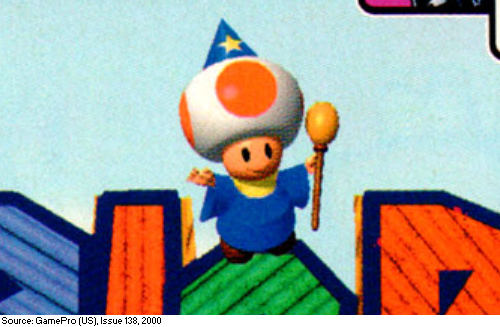 Extremely rare fully unobscured Wizard Toad artwork from Mario Party 2. Even though Wizard Toad is present in every regional version of the game&#39;s box art, he is always partially covered by other characters. <br>http://pic.twitter.com/zJqBYLnED2