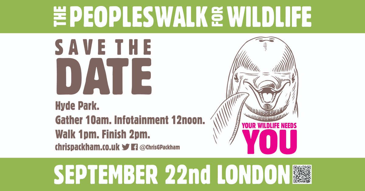 One in six UK species are at risk of extinction – get involved to save them. Join @ChrisGPackham at the #PeoplesWalkForWildlife meeting from 10am 22 Sept at Hyde Park London. Infotainment at 12 and an hour walk 1-2pm. Take a walk on the wild side!   http://www. chrispackham.co.uk/the-peoples-wa lk-for-wildlife &nbsp; … <br>http://pic.twitter.com/5269a2UtY5