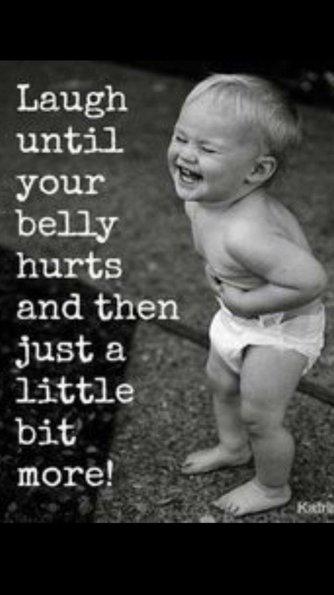 #Laugh until your belly hurts...  #JoyTrain #SuccessTRAIN #Kindness #Joy #Love #FF #FridayFeeling #Success #Laughter #makeyourownlane <br>http://pic.twitter.com/DgzUhefOV9 RT @gary_hensel